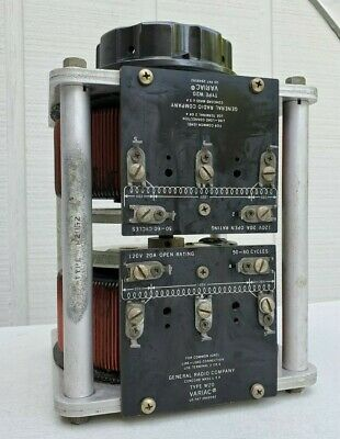 Vintage General Radio Company Stack Of 2 Type W20 Variac