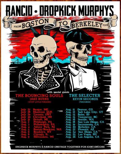 RANCID | DROPKICK MUPRHYS 2017 Tour Ltd Ed RARE Poster +FREE Punk Rock Poster!