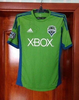 Seattle Sounders 2013 - 2015 home football soccer shirt jersey Adidas size S image