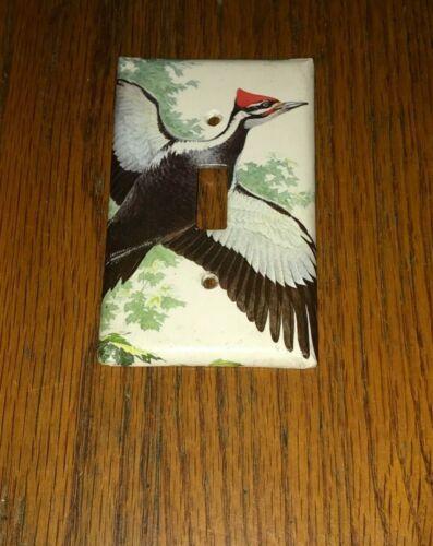 CLASSIC WOODPECKER WILD BIRD LIGHT SWITCH COVER PLATE G