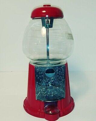 Vintage Red Carousel Bubble Gum Machine Cast Metal Glass Globe 1985 No 03 Junior