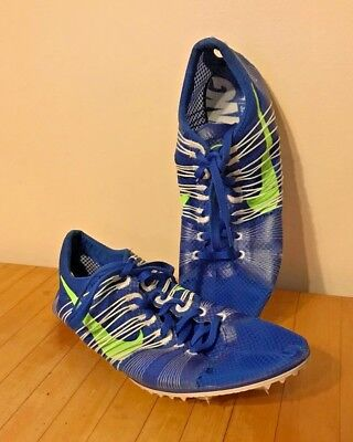 NIKE Zoom Victory 2 Long Distance LD Track Spikes Running Mens Sz 10 Blue - $120