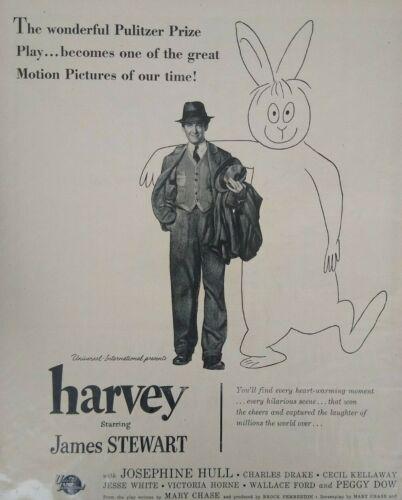 Harvey James Jimmy Stewart Photo 1950s Vintage Movie Promo Print Ad