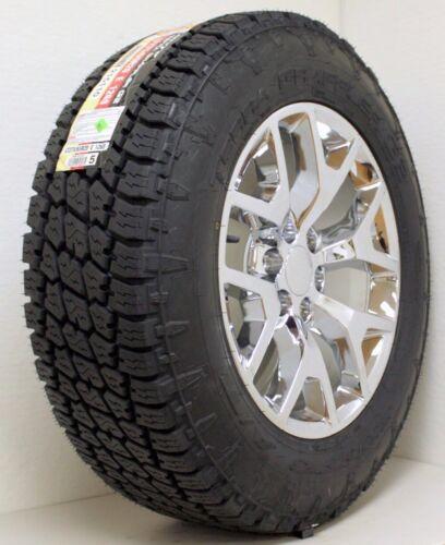"GMC 20"" Chrome Honeycomb Wheels Rims Nitto A/T Tires 2000-18 Sierra Yukon Denali"