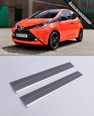 Toyota Aygo (Released Approx 2014) 4 Door Stainles Sill Protectors / Kick Plates