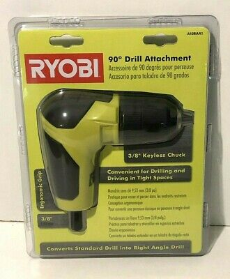 Ryobi Right Angle 90 Degree Drill Attachment 38 Chuck Home Improvement Diy