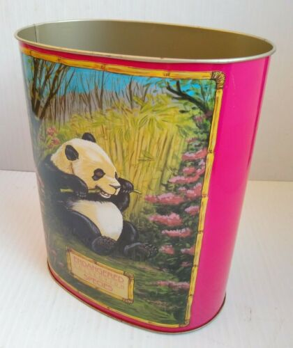 Vintage Trash Can Panda China 1990 - Endangered Collection Species