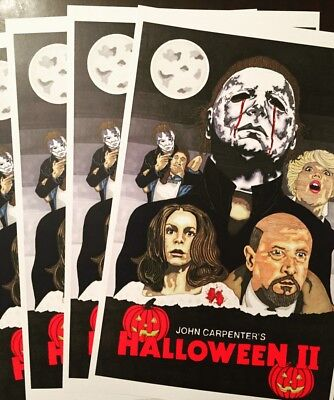 Halloween 2 Michael Myers 11x17 Sketch PosterPrints Signed By Artist Tony Keaton (Cartoon Halloween Sketches)
