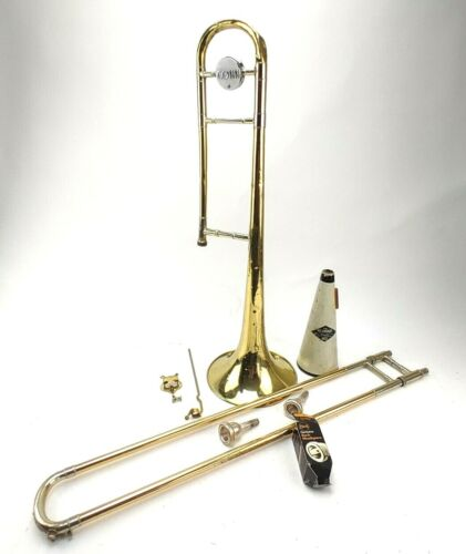 Conn Trombone 32H Burkle With Case Mute And Instrument Stand Used Condition