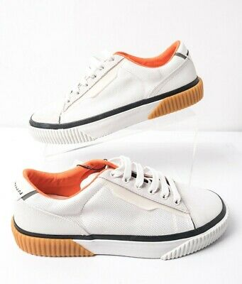 Zara Mens Casual Contrasting Low Sneakers Sz 7 Eu 40 White Orange 5248/002 NWT