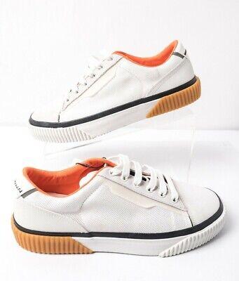 Zara Mens Casual Contrasting Low Sneakers Sz 7 Eu 40 White Orange 5248/002 NWT