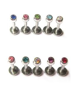 5-x-1-2mm-GEM-LIP-TRAGUS-TOP-EAR-HELIX-RIM-LABRET-BAR-STUDS-EARRING-6mm-12mm