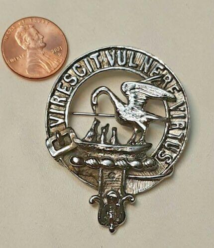 SCOTLAND - CLAN STEWART of GALLOWAY CREST - Silver Badge Brooch Pin stuart