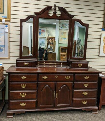 Sumter Cabinet Cherryvale Collection 12-drawer Dresser W/ Tri-fold Mirror