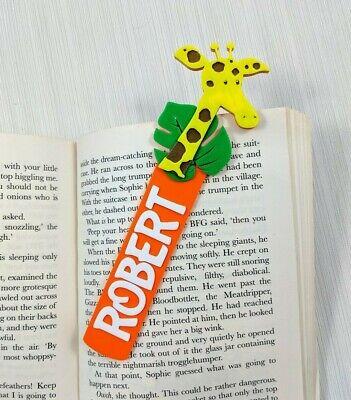Personalised giraffe bookmark, Kids Personalized bookmark, unique small