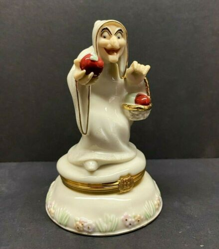 "Lenox Disney Showcase Collection ""The Hag"" Snow White Trinket Box 5"" Tall"