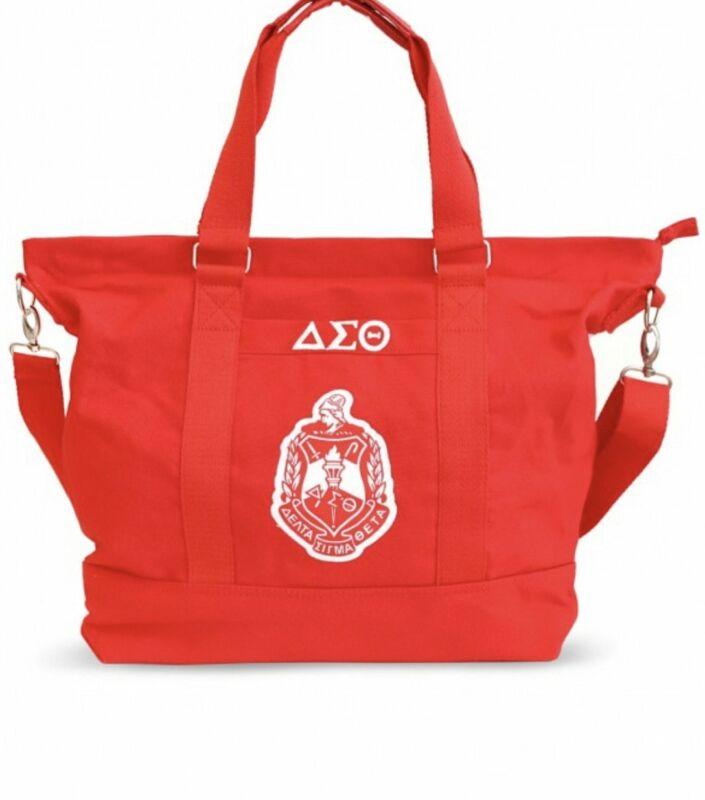 Delta Sigma Theta - Canvas Bag (Red)