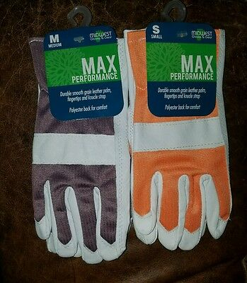 One Pair Midwest Quality Gloves Ladies Max Performance Leather Palm   You Pick