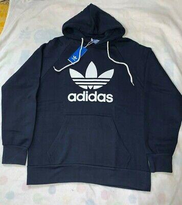 Adidas Mens Trefoil Hoodie Jumper Pullover Navy Medium