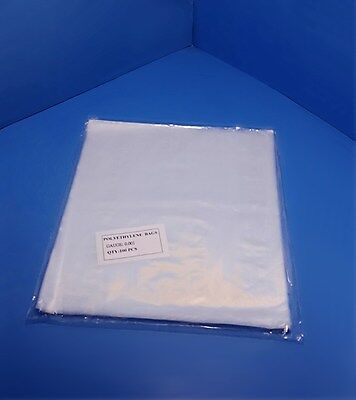 100-1000 13x14 Clear Poly Bags 1-mil Lay-flat Open Top End Plastic Baggies 1ml