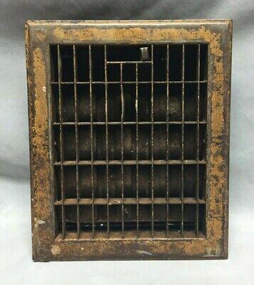 Vintage Mid Century Stamped Steel Heat Grate Register 8X10 169-19C