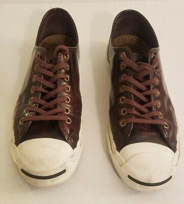 Converse Sz 8.5 men Sz 10 Women Jack Purcell Box Leather Shoe 144348C  Oxheart - Converse Costume
