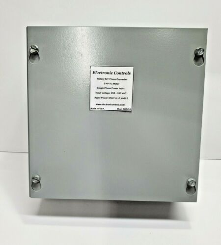 Static Phase Converter for: 8 to 12 HP 220VAC runs 3-phase motors w/single phase