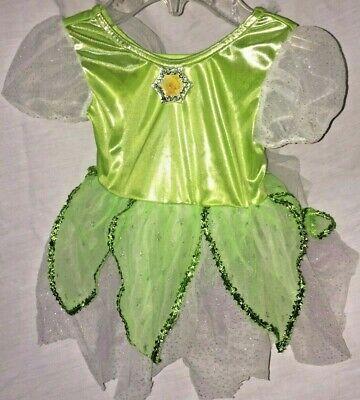 NEW Baby Girl Disney TINKERBELL Fairy Princess Costume Dress 12 MO Halloween