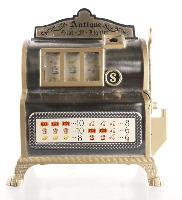 Slot Machine + Lighter - Small Table Top - Antique Look Vintage