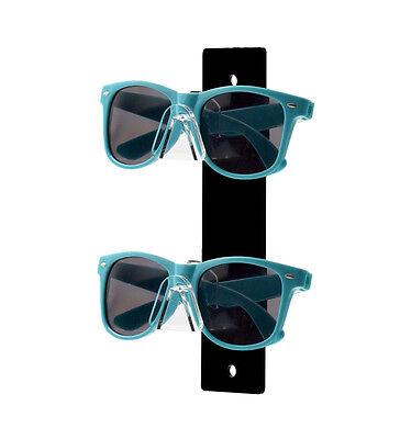 Black 2 Tier Acrylic Sunglasses Eyeglasses Display Stand