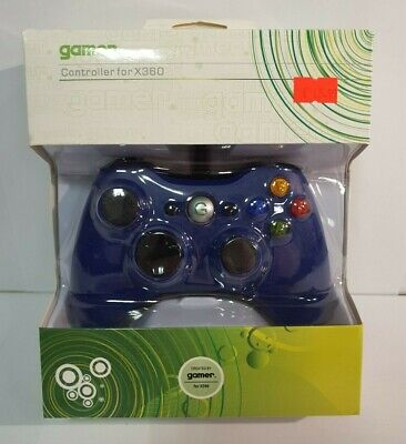 Wired Controller for XBOX 360 BLUE, long cable, GAMER - NEW
