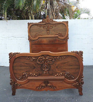 Tall French Heavily Carved Full Size Bed 8232