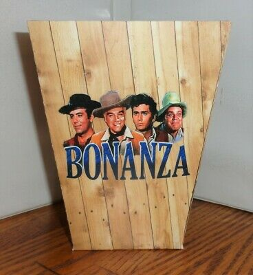 Bonanza Popcorn Box 4. Ponderosa. Landon Roberts Blocker Greene. Free Ship