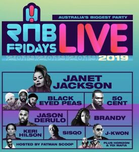 1X SOLD OUT PLATINUM FLOOR STANDING RNB FRIDAYS TICKET