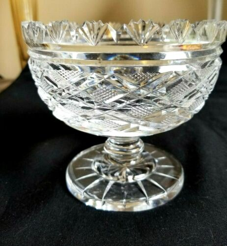 BREATHTAKING ABP AMERICAN BRILLIANT PERIOD  CUT GLASS SWEETMEAT COMPOTE