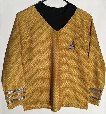 Boys Star Trek Captain Kirk Gold Yellow Shirt large Star Fleet Uniform - Starfleet Uniformen Kostüm