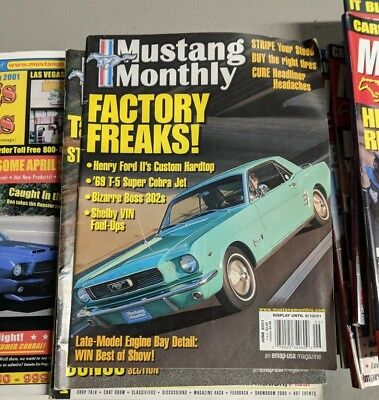 (5D3)  Lot of 39 Various Used  Mustang Ford Magazines Early 2000s Free shipping for sale  Shipping to Canada