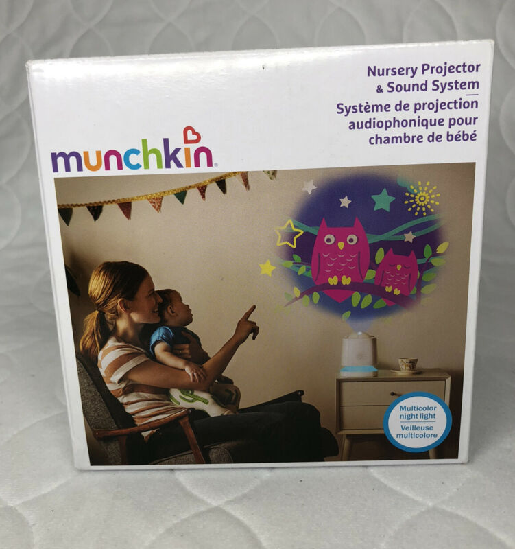 Munchkin Sound Asleep Nursery Projector and Sound Machine with LED Nightlight