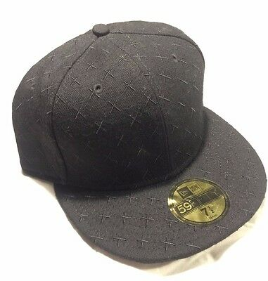e4486b09702 Kaws Original Fake x New Era 59FIFTY Cap Size 7 1 2 Black X Pattern  Companion