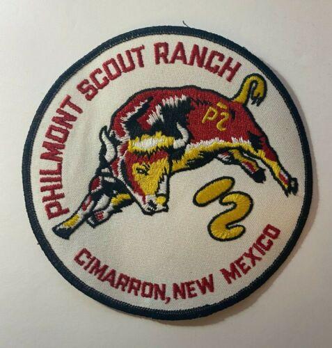 "Vintage Philmont Boy Scout Ranch 6"" Back Patch Cimarron NM New Mexico BSA Bull"