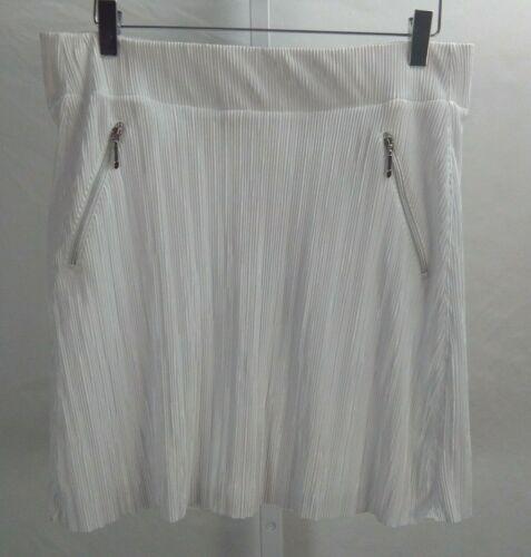 NWT New Womens Jamie Sadock Golf Skort Skirt Shorts sz 8 White Retail $110