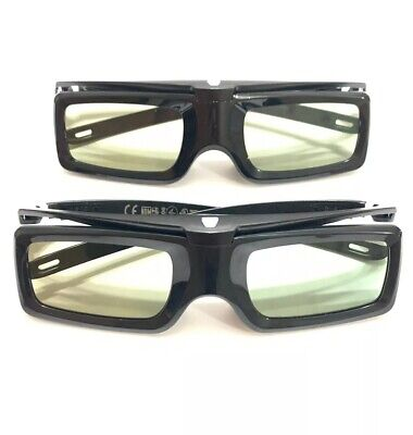 2 Pairs - Official Sony TDG-BT400A Active 3D Glasses LOT OF 2
