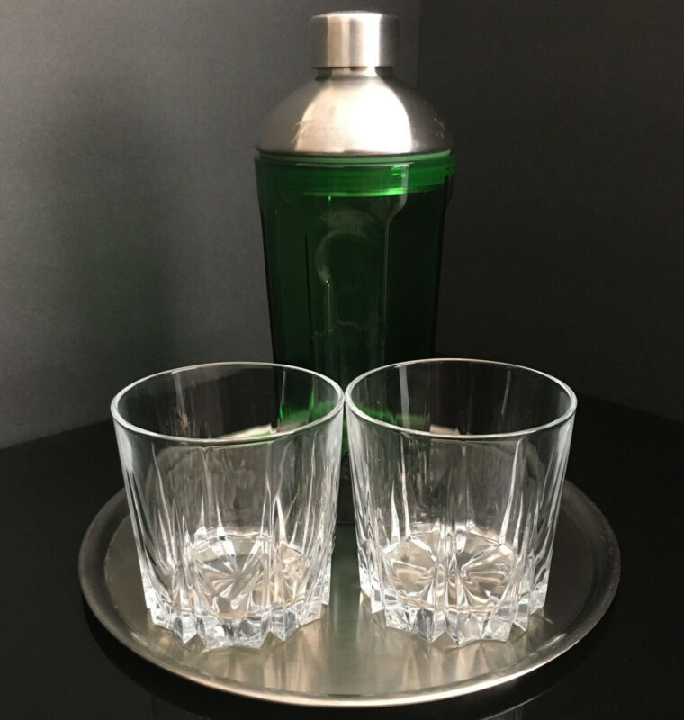 Vintage Tanqueray Cocktail Set With Green Vintage Gin Cocktail Mixer Lot Of 4