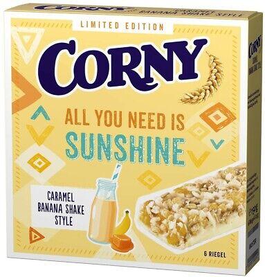 (100g=1,33€) Corny Sunshine Caramel Banana Shake Style Bananen Müsli Riegel 150g