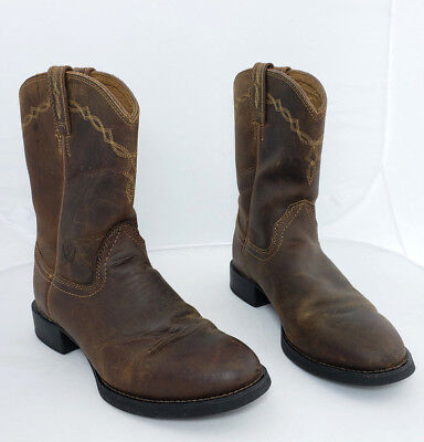(ARIAT 35525 Mens Heritage Roper Western Boots Distressed Brown Size 7 R-Toe)