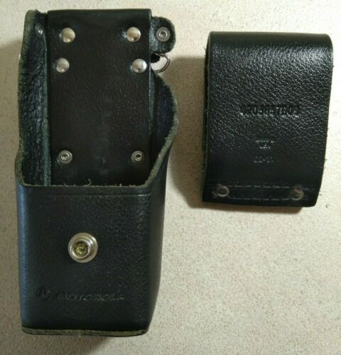 Motorola NTN8386B Leather Radio Holster With Belt Loop (NO T-STRAP) Made in USA