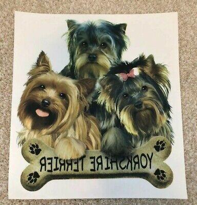 Yorky Puppies Yorkshire Terrier Heat Press Transfer Prints 12 Pc Lot