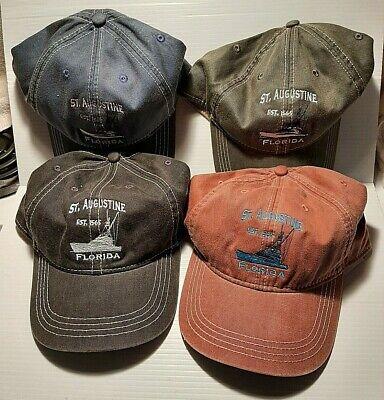 Souvenir St. Augustine Florida Retro Ball Caps Embroidered Adjustable Adult Hats