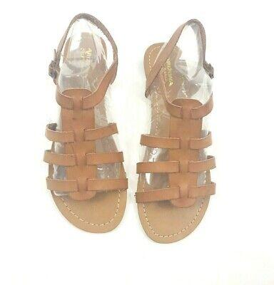 Arizona Jeans Co. Women's Juniors Sandals Gladiator Flat Tan Size 9 1/2 NWOB Gladiator Sandals Jeans