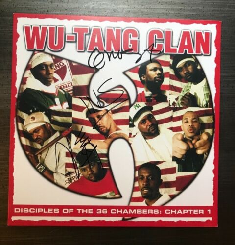* WU TANG CLAN * signed album * DISCIPLES OF THE 36 CHAMBERS * x3 * PROOF * 1